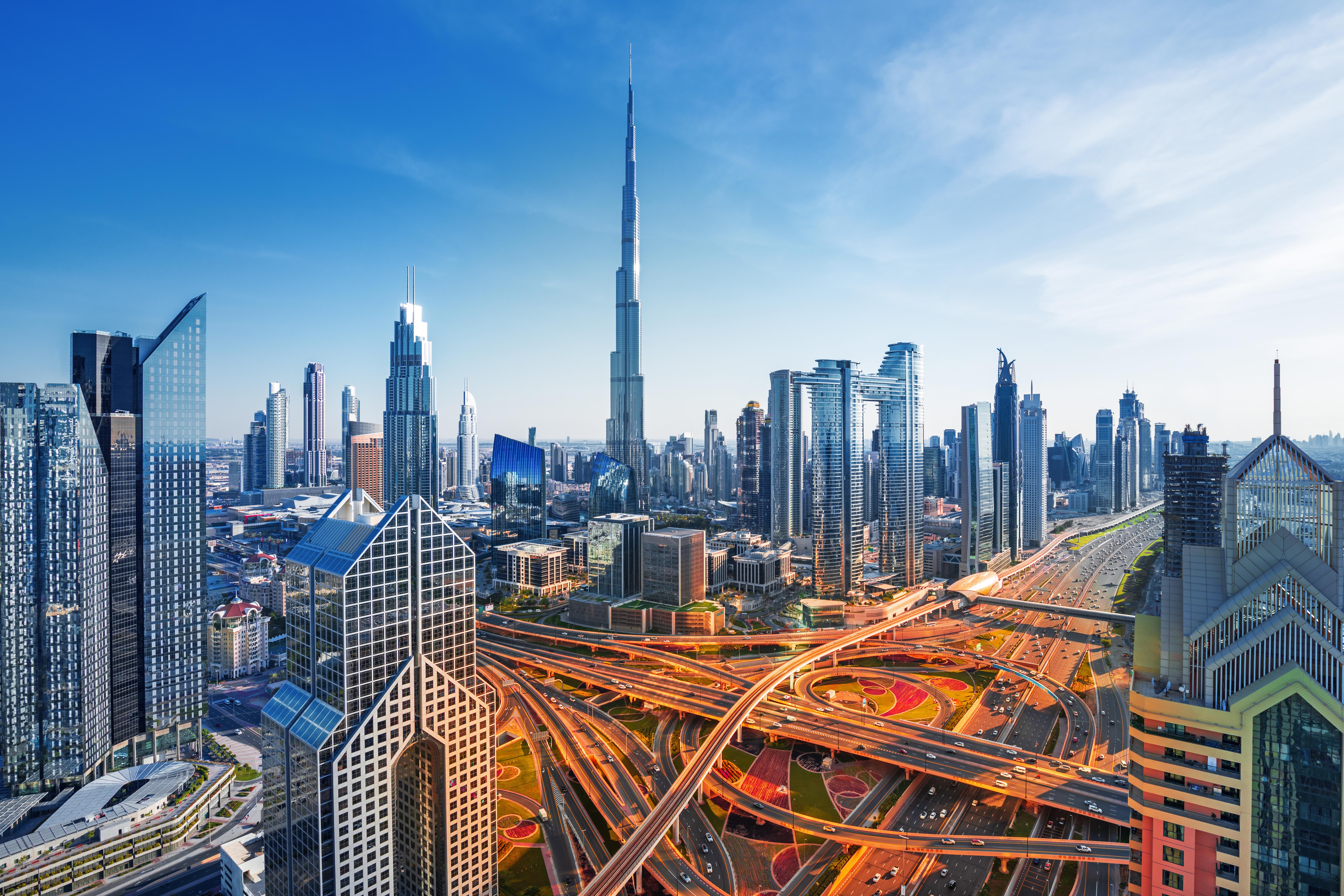 Dubai,-,Amazing,Skyline,Of,City,Center,,United,Arab,Emirates